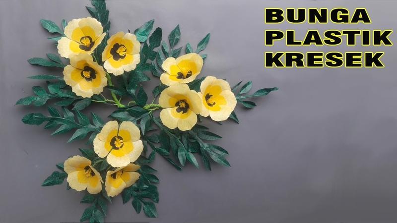 Plastik kresek Cara termudah Membuat Bunga Hiasan Dinding Hanging Flower Wall Decoration