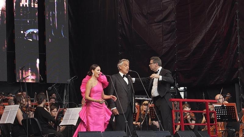 Аида Гарифуллина и Андреа Бочелли С Петербург Andrea Bocelli and Aida Garifullina St Petersburg