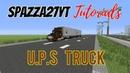Minecraft Mack CH600 UPS delivery truck tutorial