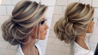Низкий пучок из локонов | Wedding hairstyle tutorial