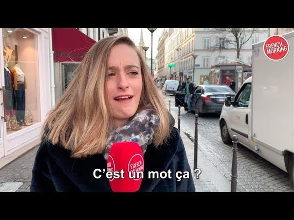 Regardez ces Parisiens prononcer des mots anglais difficiles