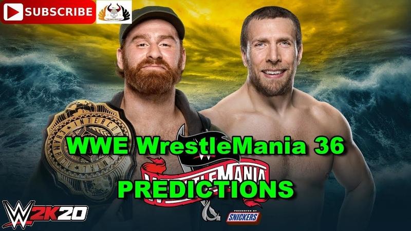 WWE WrestleMania 36 Intercontinental Championship Sami Zayn vs Daniel Bryan Predictions WWE 2K20