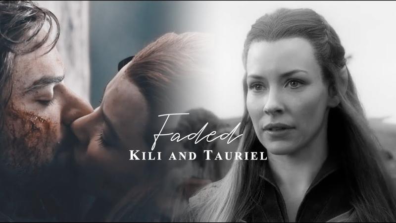 Kili and Tauriel faded