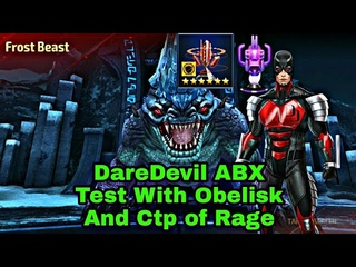 Daredevil Abx Test With Obelisk & Ctp Of Rage - Marvel Future Fight