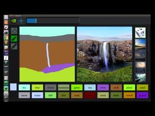 Nvidia показала как нейросеть делает реалистичные фотографии на основе набросков в реальном времени.