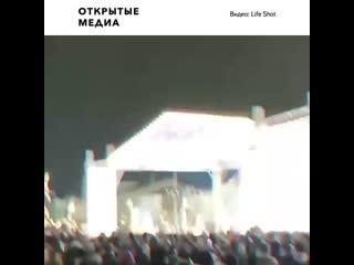 В Дагестане в новогоднюю ночь тушили главную ёлку республики