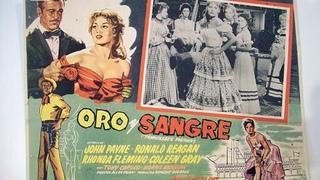 ORO Y SANGRE (1955) de Allan Dwan con John Payne, Ronald Reagan, Rhonda Fleming by Refasi