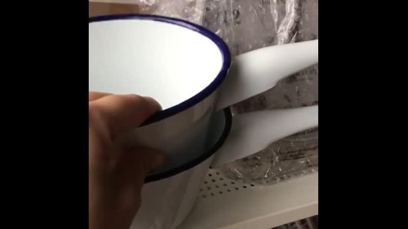 Ковши со скидкой всего за 800₽🔥🔥🔥В наличии пишите в Директ Ковшики как будто с прошлого века Белая эмалированная эмаль Оди