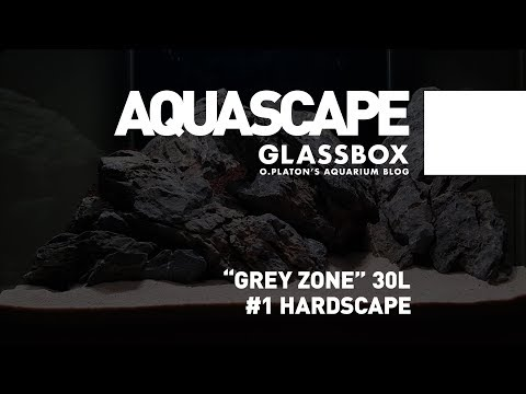 GRAY ZONE 30 1 Hardscape GLASSBOX AQUASCAPE 4K