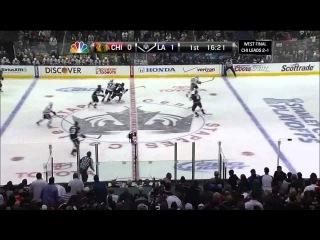 Slava Voynov rocket slapshot goal 1-0. 6/6/13 Chicago Blackhawks vs LA Kings NHL Hockey