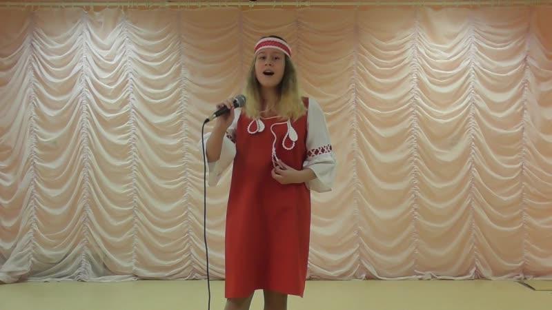 Косованова Варвара Ты река ль моя реченька городской конкурс Народной музыки песни и танцев