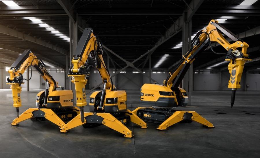 Модельный ряд роботов-демонтажников Brokk