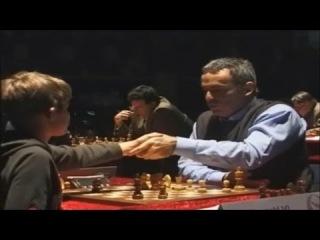 Magnus Carlsen Meets Garry Kasparov  2004