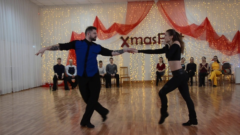 ХАСТЛ XmasFest 2019 ДнД Star Ch Агалаков Константин и Федотова Елена slow