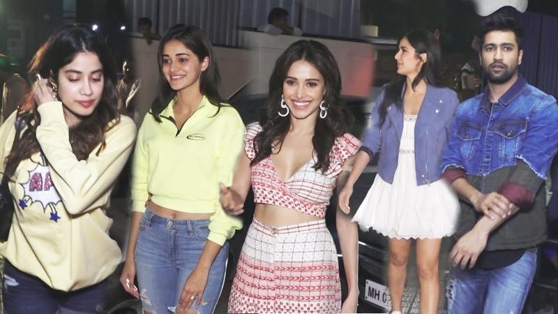 Bhoot Screening Katrina Kaif Vicky Kaushal Ananya Panday Janhvi Kapoor