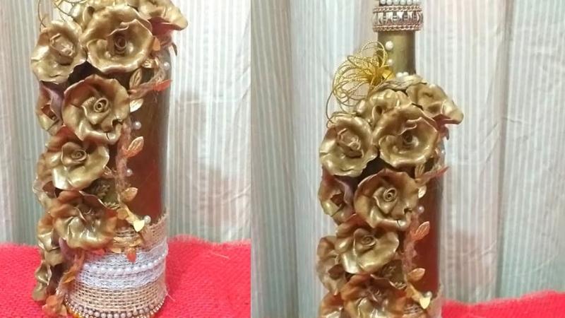 Garrafa dourada caminho das flores!