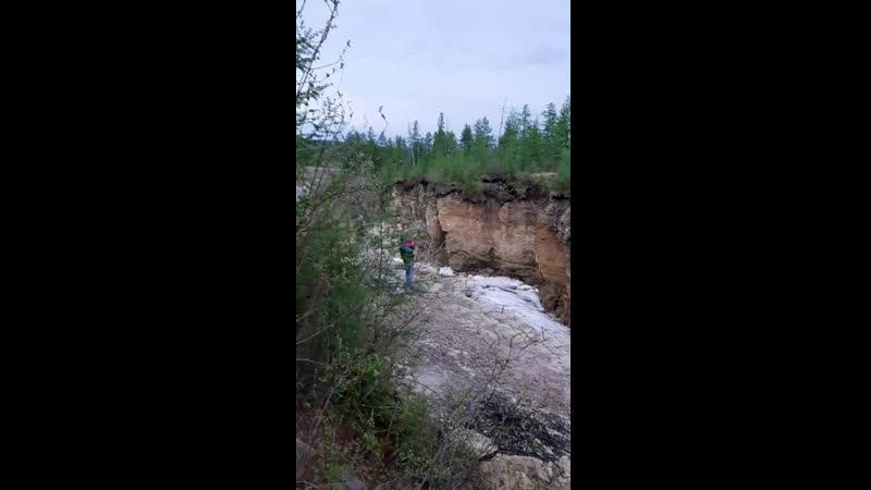 водопад оттайки айхал якутия