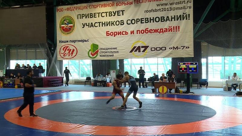 Всероссийский турнир по греко римской борьбе среди юниоров до 21 года в Казани