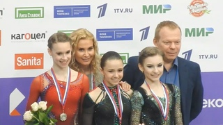 Валиева, Хромых и Усачева: Церемония награждения на Финале Кубка России 2020-21