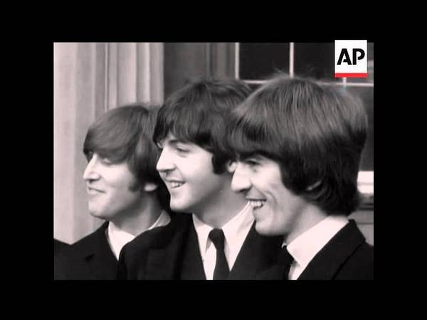 MM 10 7 15 The Beatles Receive their MBE's Beatlemania scenes