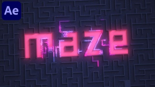 Maze Reveal Logo with After Effects and AutoFill