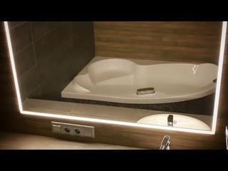 НЕСТАНДАРТНОЕ РЕШЕНИЕ 2018!!! Монтаж встроенного в плитку зеркало с подсветкой в Ванной комнате!