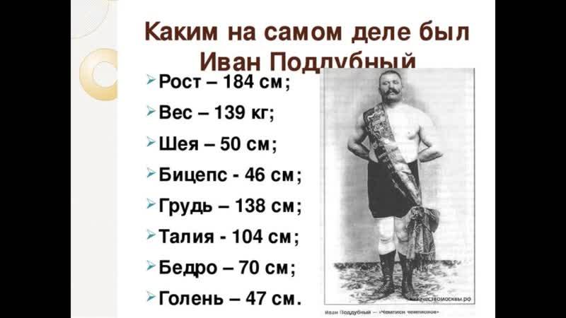 Патриотический час Гордость и сила Иван Поддубный