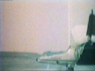 Buran's landing at Baikonur