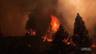 Usa, nuovo grande incendio in California: rogo intorno al lago di Tahoe