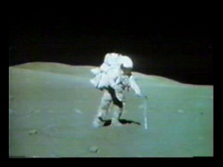 Apollo 16 TV - Geology Station 9 - The Great Sneak (T+148:10:29)