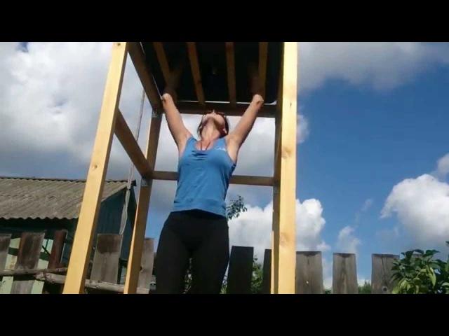 Деревянный душ для дачи моими руками 100X100X200см высота с баком 225см