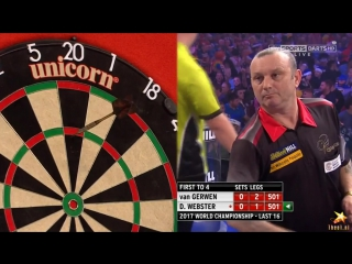 Michael van Gerwen vs Darren Webster (PDC World Darts Championship 2017 / Round 3)
