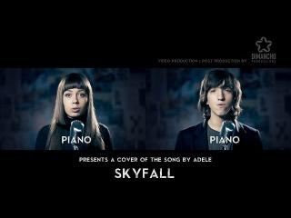 Ребята фантастически поют. Вдвоем, акапельно, сами за инструменты. Skyfall (Adele) - Acapella Cover by Mary Sazonova & Tikhon L.