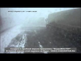 ДТП в Татарстане на трассе М7 Наб.Челны-Казань большегруз протаранил легковушку прямо в кадре