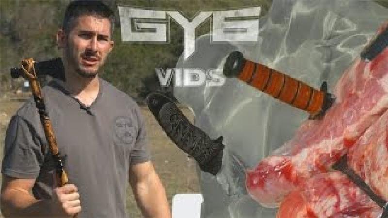 Will It Kill You? THROWING Knives Tomahawks vs. GEL RIBS GY6 Ballistic Test 30
