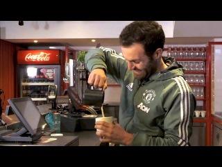Nemanja Matic, Juan Mata & Ashley Young Launch Renovated 'Red Café' - Interview With Nemanja Matic