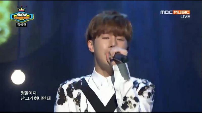 [VID]150520 Kim Sunggyu - Kontrol @ MBC Show Chanpion