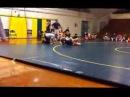 Girl make big guy scream wrestling match
