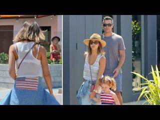 Jessica Alba And Family Show Their Patriotism, Cash Warren Rides IO HAWK in Malibu