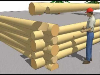 """Log Corners -- Getting the Order Right -- from my DVD series """"Building Log Homes"""""""