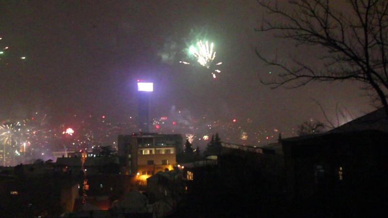 Салют на Новый годв в Тбилиси
