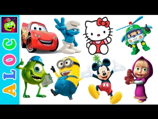 Big collection of stickers mickey mouse, minions, disney cars, spiderman, disney, monster high...