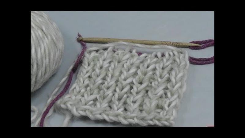 Knooking - Schal im Patentmuster aus der Grande von Junghans-Wollversand