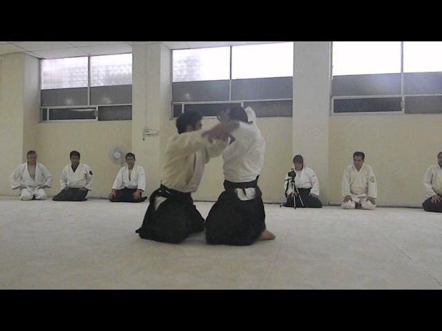 Waka Sensei (Mitsuteru Ueshiba) Suwari waza Kokyu ho