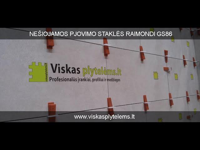 Raimondi RLS plytelių lyginimo sistemos tvirtumo įrodymas