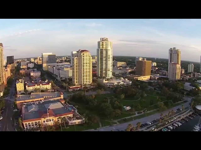 St Petersburg Florida USA from the air