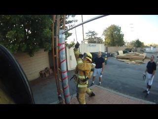 Подготовка американских пожарных в Академии (2013 год)