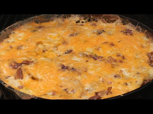 Scalloped Potatoes with Bacon Cheese and Chives by the BBQ Pit Boys