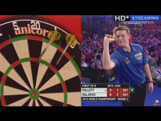 Mensur Suljović vs David Pallett (PDC World Darts Championship 2016 / Round 2)