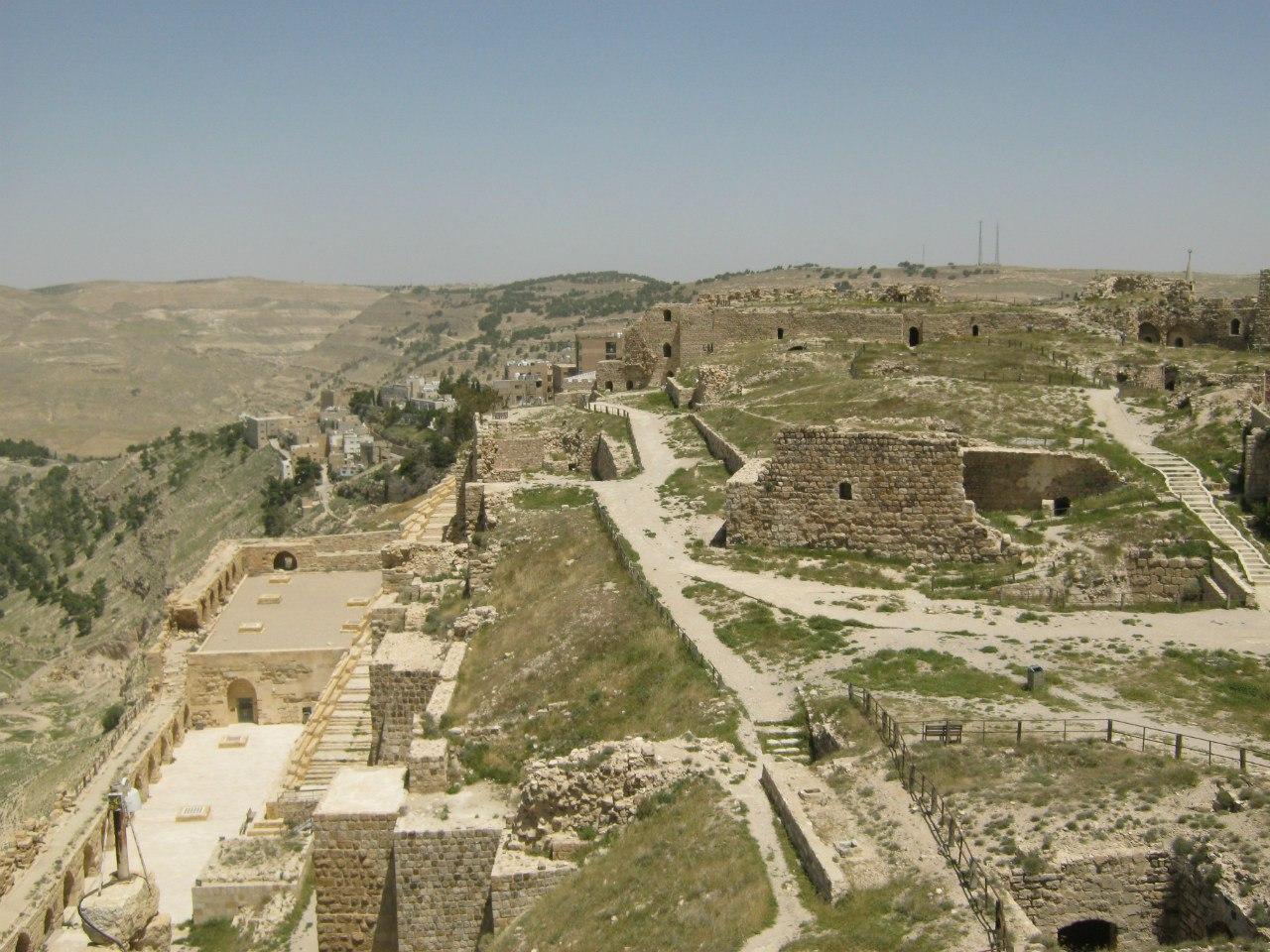 Вид с крепости Керак